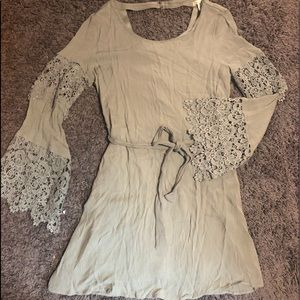 Dresses & Skirts - Olive green lace dress